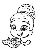 Раскраска - Гуппи и пузырики - Зули
