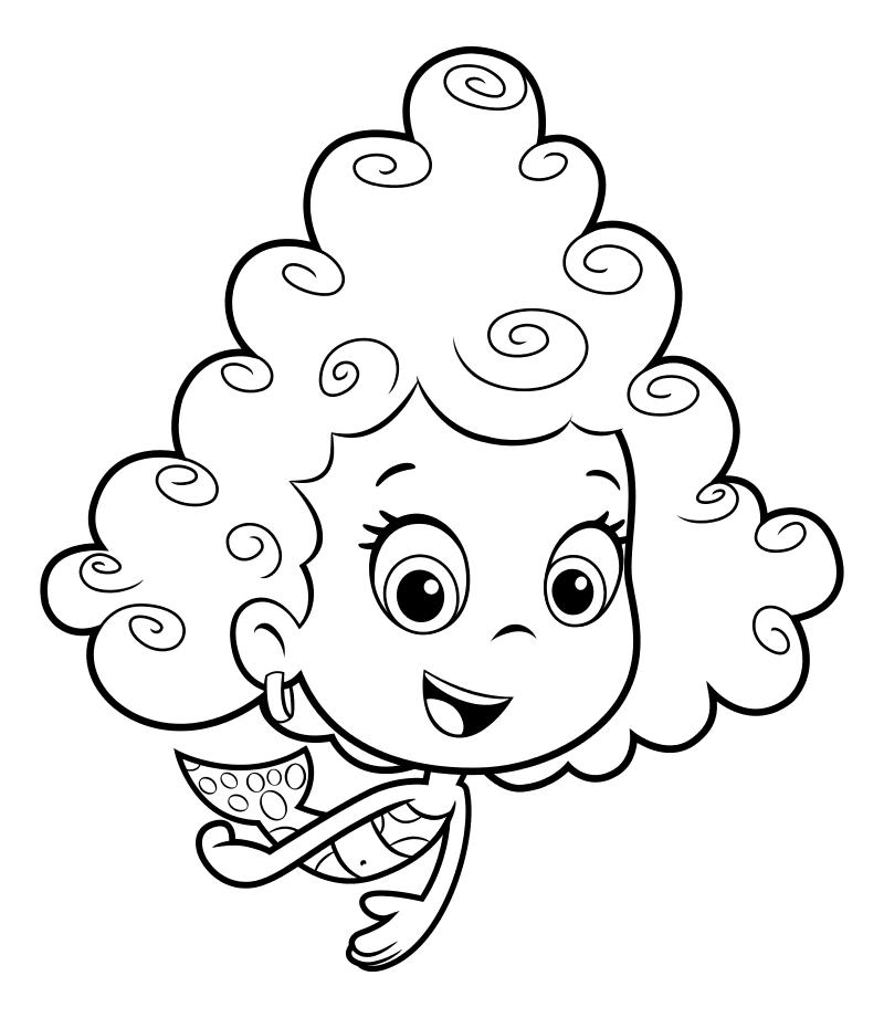 Раскраска - Гуппи и пузырики - Дина любит петь