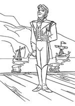 Раскраска - Холодное сердце - Принц Ханс прибыл в Эренделл