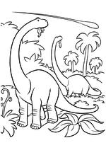 Раскраска - Хороший динозавр - Динозавры и астероид