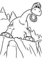 Раскраска - Хороший динозавр - Арло потерял отца