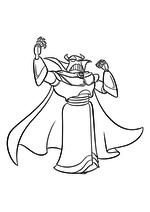 Раскраска - История игрушек - Император Зург