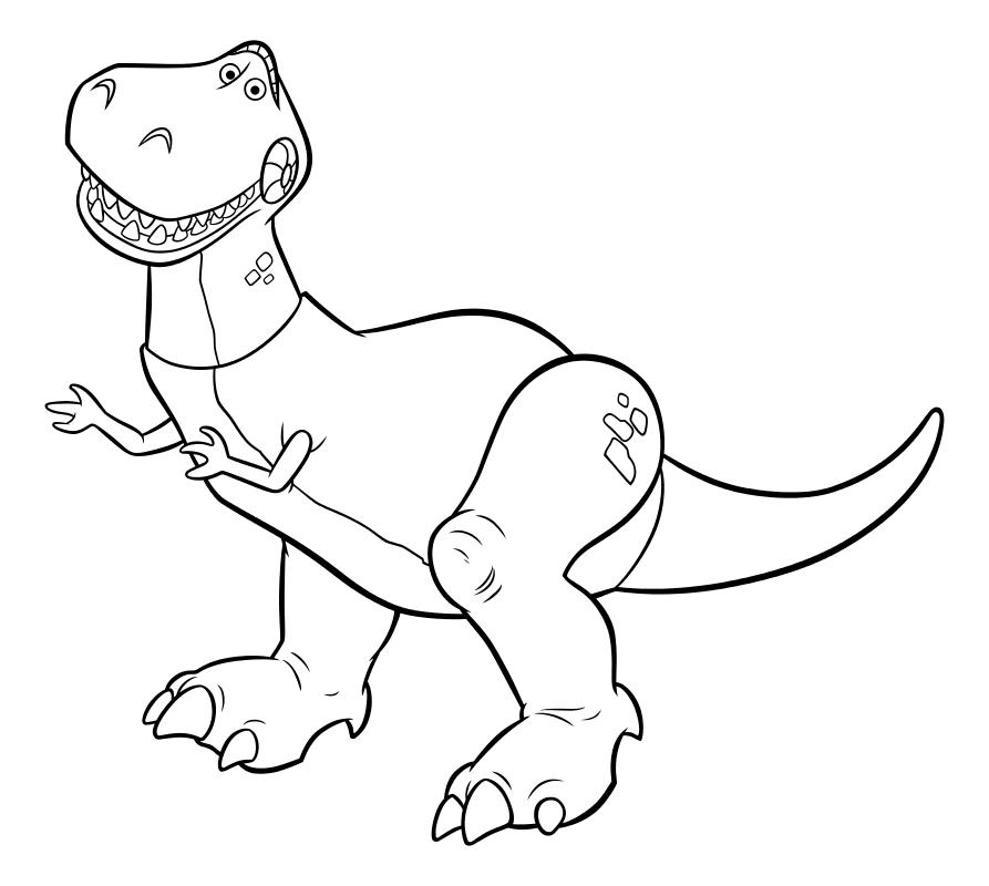 Раскраска - История игрушек - Тираннозавр Рекс | MirChild