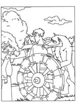Раскраска Царь даёт указания Ивану