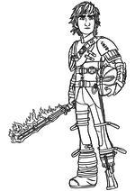 Раскраска - Как приручить дракона 2 - Иккинг