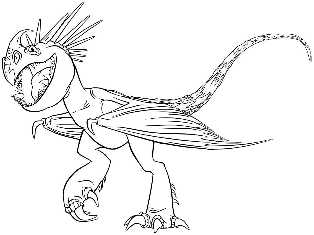 Раскраска - Как приручить дракона 2 - Громгильда