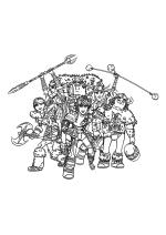 Раскраска - Как приручить дракона 2 - Астрид, Задирака, Рыбьеног, Иккинг, Забияка и Сморкала