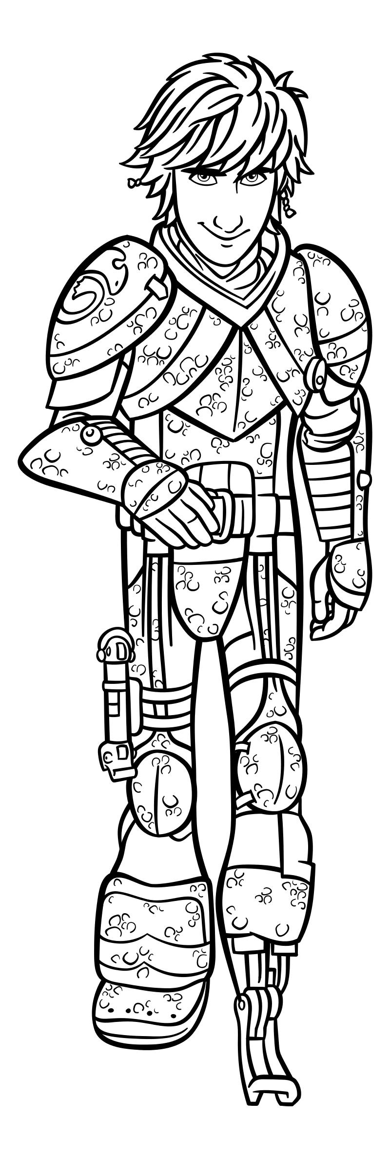 Раскраска - Как приручить дракона 3 - Иккинг Кровожадный Карасик III