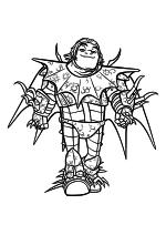 Раскраска - Как приручить дракона 3 - Сморкала Йоргенсон