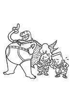 Раскраска - Капитан Подштанник: Первый эпический фильм - Капитан Подштанник, Гарольд и Джордж