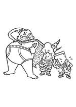 Раскраска - Капитан Подштанник: Первый эпический фильм - Капитан Подштанник с Гарольдом и Джорджем