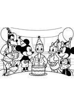 Раскраска - Клуб Микки Мауса - День рождения Дональда