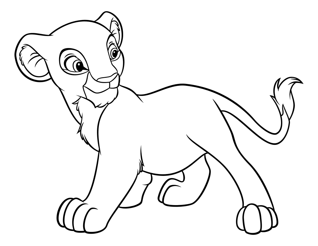 Раскраска - Король Лев - Львёнок Нала | MirChild