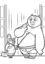 Раскраска - Кунг-фу панда 3 - Шифу говорит с По
