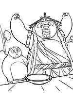 Раскраска - Кунг-фу панда 3 - По нашёл Ли Шаня