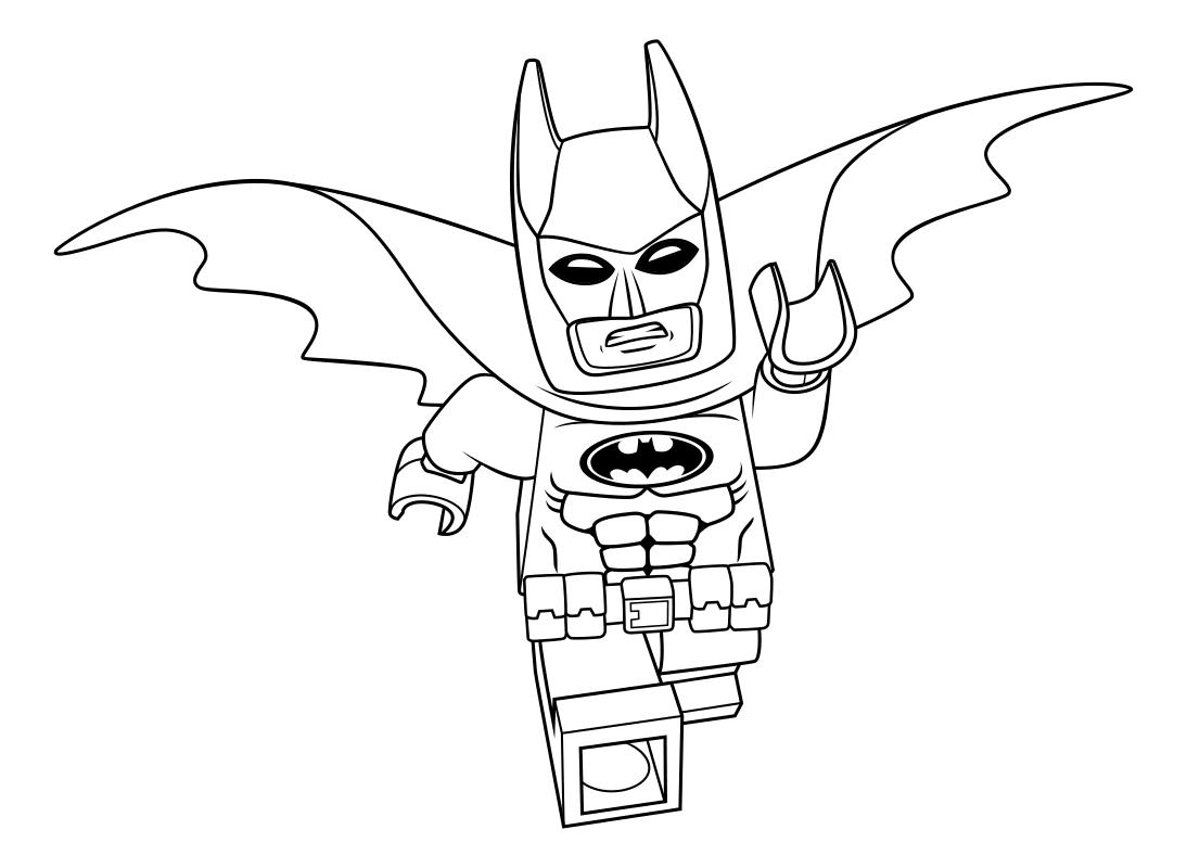 Раскраска - Лего Фильм: Бэтмен - Супергерой Бэтмен   MirChild