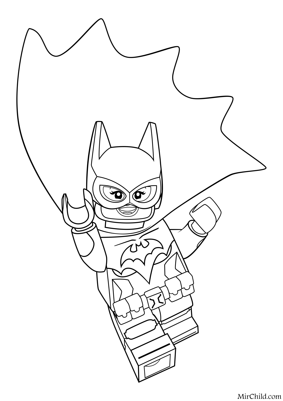 Лего бэтмен раскраска фильм