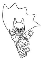 Раскраска - Лего Фильм: Бэтмен - Бэтгёрл в прыжке