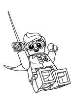 Раскраска - Лего Фильм: Бэтмен - Робин на верёвке