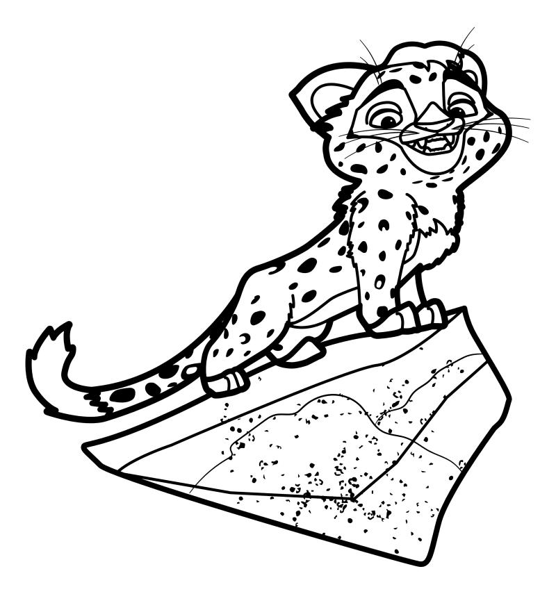 Раскраска - Лео и Тиг - Лео на скале