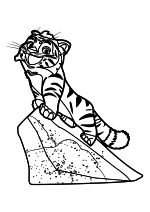 Раскраска - Лео и Тиг - Тиг на скале