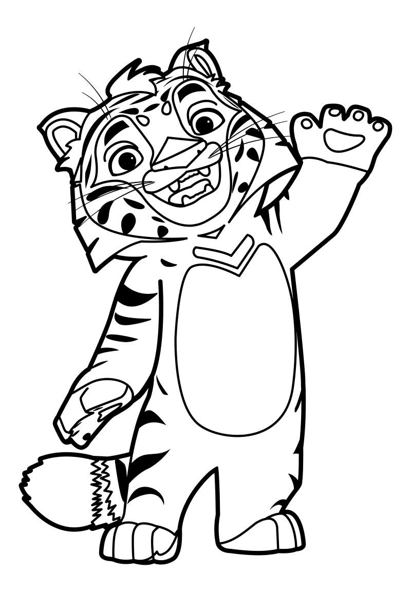 Раскраска - Лео и Тиг - Маленький тигрёнок Тиг