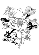 Раскраска - Лига Справедливости - Лига Справедливости