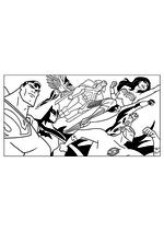 Раскраска - Лига Справедливости - Супергерои Лиги Справедливости