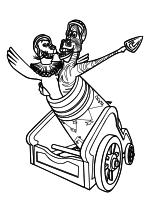 Раскраска - Мадагаскар - Стефано и Марти заряжены в пушку