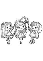 Раскраска - Маленькие волшебницы - Поузи, Хэйзел и Лэвендер