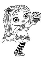 Раскраска - Маленькие волшебницы - Поузи и Требл