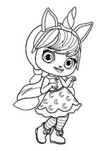Раскраска - Маленькие волшебницы - Лэвендер с ободком единорога