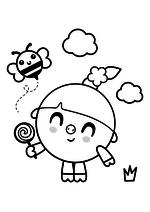 Раскраска - Малышарики - Нюшенька с леденцом