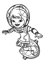 Раскраска - Майлз с другой планеты - Лоретта на бластборде