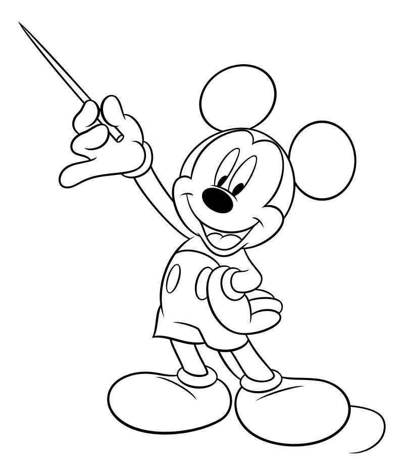 Раскраска - Микки Маус и друзья - Микки Маус с указкой