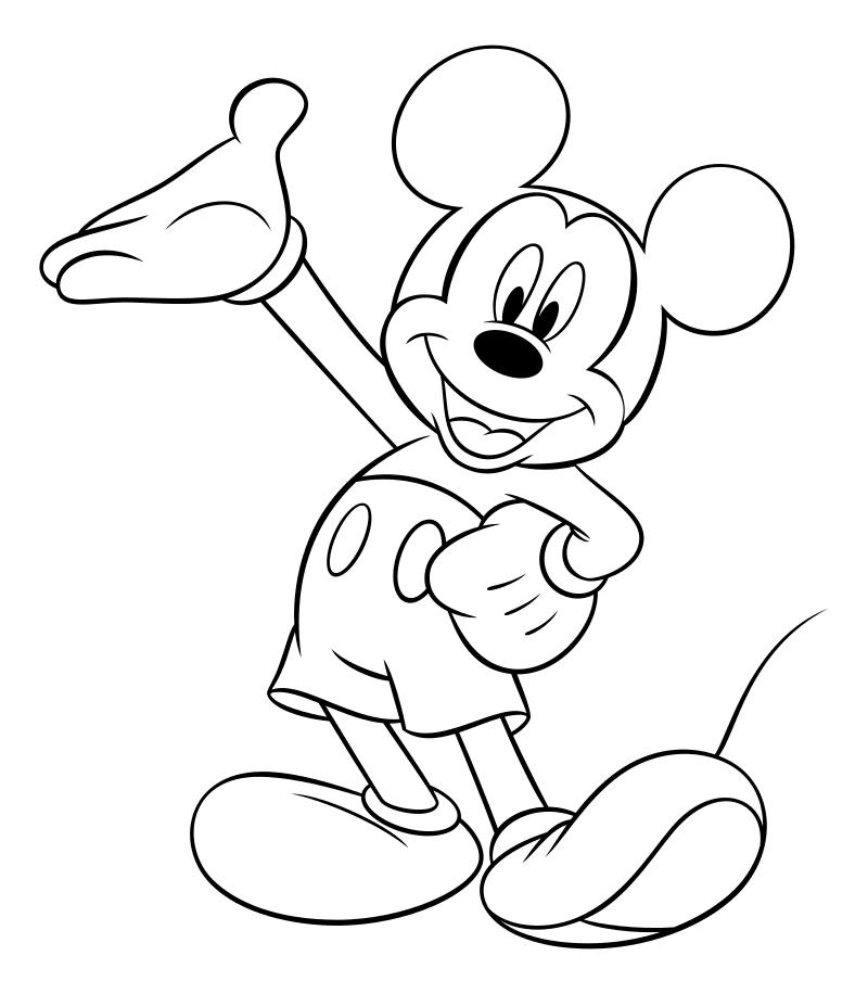 Раскраска - Микки Маус и друзья - Весёлый Микки Маус