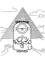 Раскраска - Миньоны - Древнеегипетский Миньон