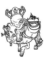 Раскраска - Монстры против пришельцев - Доктор Таракан, Б.О.Б и Недостающее Звено