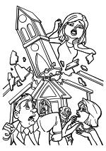 Раскраска - Монстры против пришельцев - Сюзан увеличилась в размерах