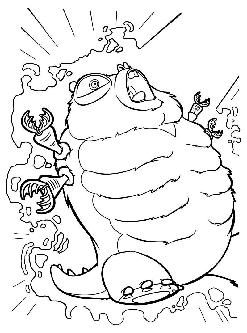 Раскраска - Монстры против пришельцев - Насекомозавр