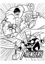 Раскраска - Мстители: Величайшие Герои Земли - Мстители