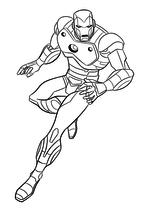 Раскраска - Мстители: Величайшие Герои Земли - Железный Человек готов к нападению