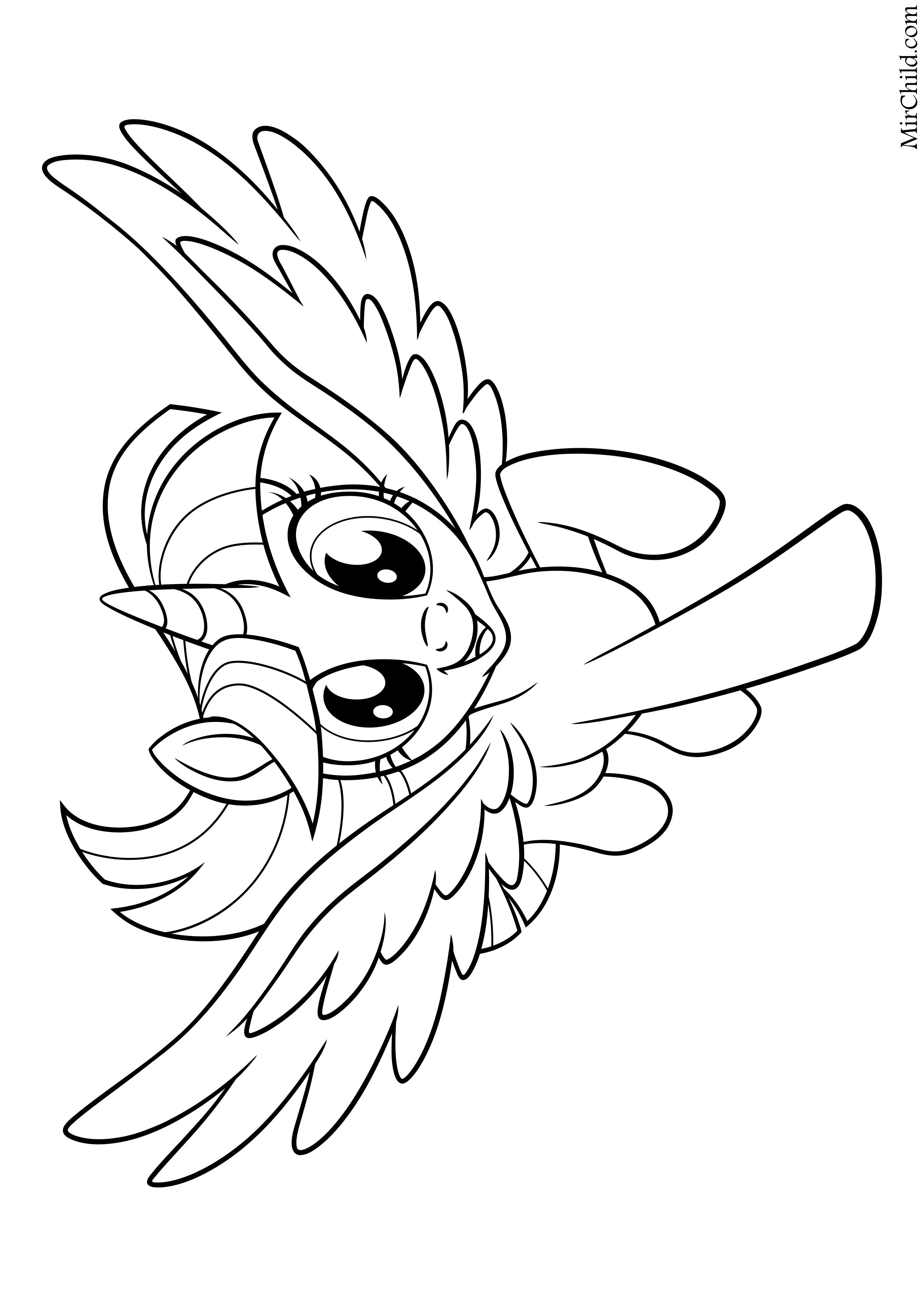 Раскраска - My Little Pony в кино - Сумеречная Искорка ...