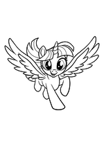 Раскраска - My Little Pony в кино - Сумеречная Искорка