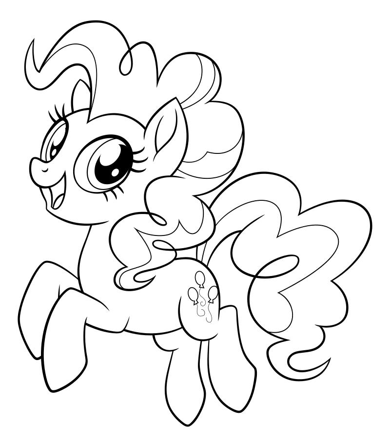 Раскраска - My Little Pony в кино - Пинки Пай | MirChild