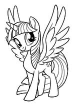 Раскраска - My Little Pony в кино - Моя маленькая пони - Сумеречная Искорка