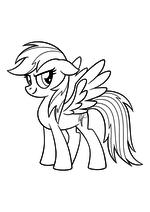 Раскраска - My Little Pony в кино - Моя маленькая пони - Радуга Дэш