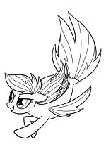 Раскраска - My Little Pony в кино - Радуга Дэш - морская пони