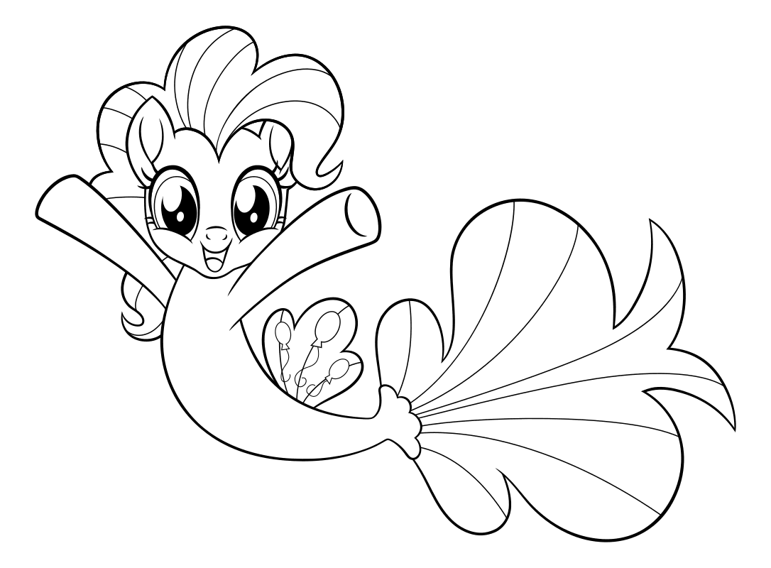 Раскраска - My Little Pony в кино - Пинки Пай - морская ...