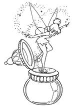Раскраска - Питер Пэн - Динь-Динь на чернильнице